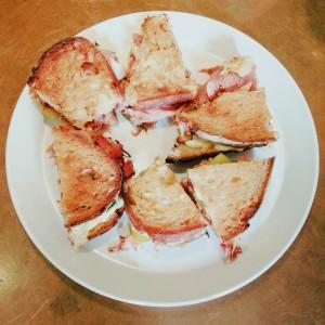 Eigen interpretatie Cuban sandwich van Worst Wijncafé, Amsterdam; © Marjan Ippel