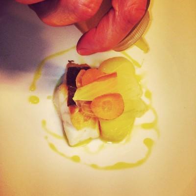 Kabeljauw, pommes kurkuma en iced wortel en venkel door Lidl Kranenborg; © Marjan Ippel