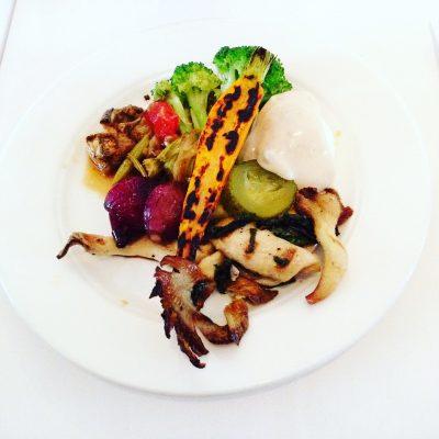 Weelderig gegrilde groentes bij restaurant Lux, Rotterdam; © Marjan Ippel