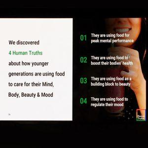 Foto van een slide uit de Horecava-keynote van Michiel Bakker @ Google Food